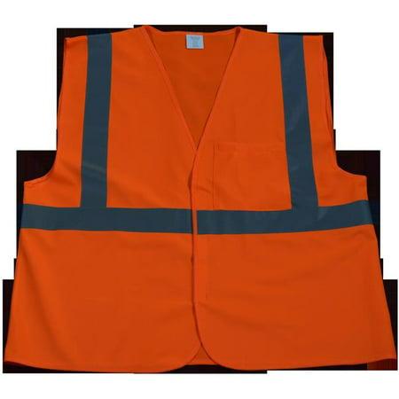 OV2-EC-4X-5X Safety Vest Economy Line Ansi Class Ii Orange Solid, 4X & 5X - image 1 of 1