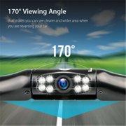 2020 New 170° Car Rear View Reverse Backup Parking Camera 8LED Car Rearview Mirror Camera HD Night Vision Waterproof
