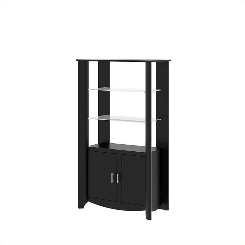 Bush Aero 2-Door Tall Library Storage in Classic Black - image 2 de 4