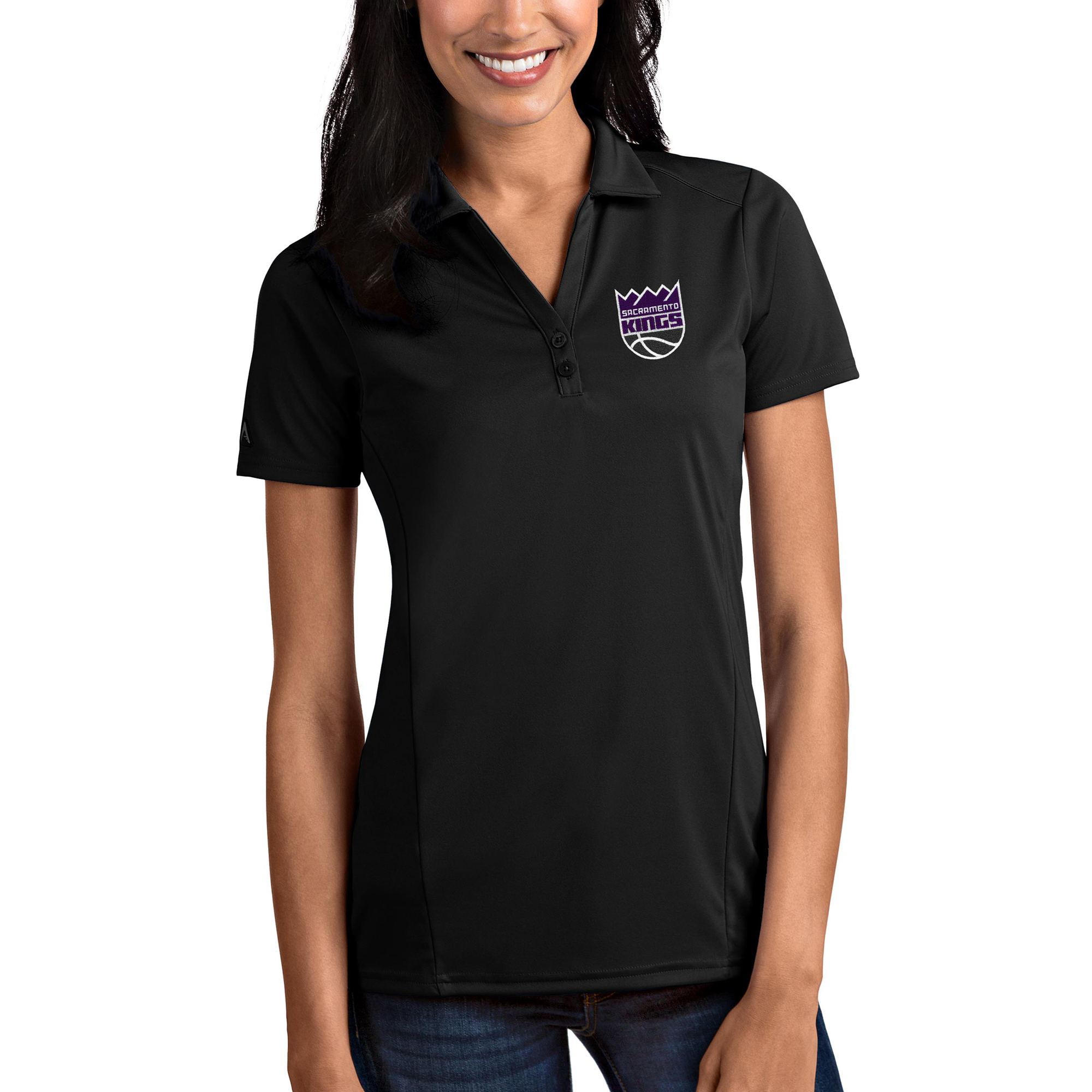 Sacramento Kings Antigua Women's Tribute Polo - Black