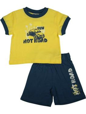 6b5876cb Product Image Mish Mish Baby Boys Infant Cotton Knit Short Sleeve Tee Short  Sets, 8516 Light Blue