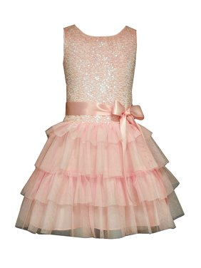 3c7d79593c30 Product Image Bonnie Jean Girls Pink Sequin Tiered Party Dress 4