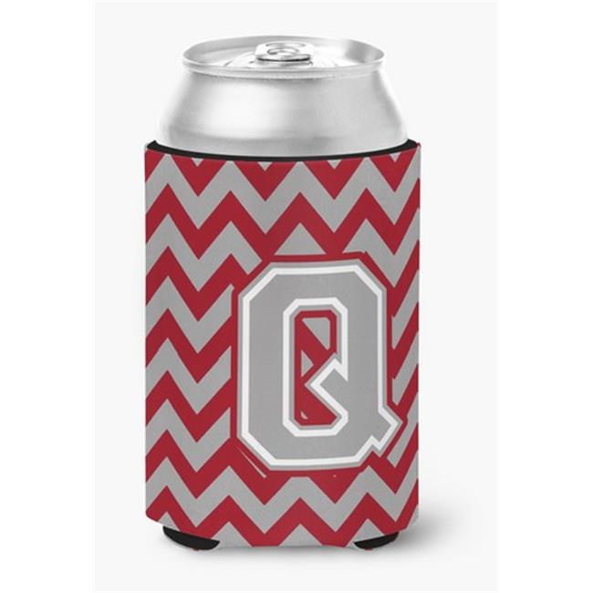 Carolines Treasures CJ1043-QCC Letter Q Chevron Crimson & Grey Can or Bottle Hugger - image 1 of 1