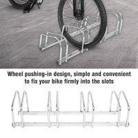 Bike Floor Parking Rack,Ymiko 4 Racks Steel Bike Bicycle Floor Parking Stand Storage Rack Holder