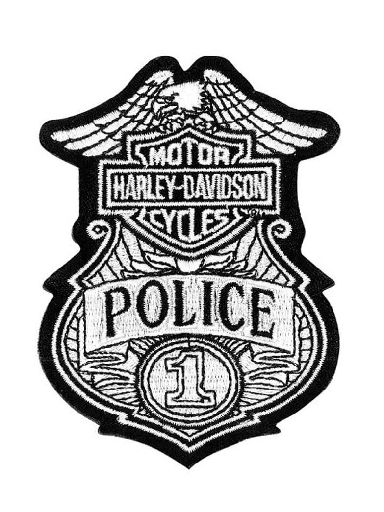 Original DYI Harley Davidson  LOGO heat transfer applique Iron on badge patch