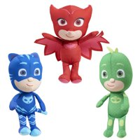 PJ Masks Mini Plush Asst, 3 Pack Bundle- includes Catboy, Owlette & Gekko, Ages 2+