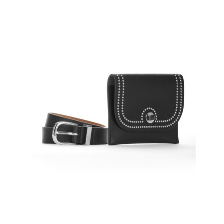 LPLP Linea Pelle Women's Belt Bag (Linea Pelle Black Belt)