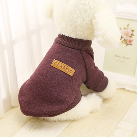 Cute Clothes For Puppies (Pet Dog Puppy Classic Sweater Fleece Sweater Clothes Warm Sweater)