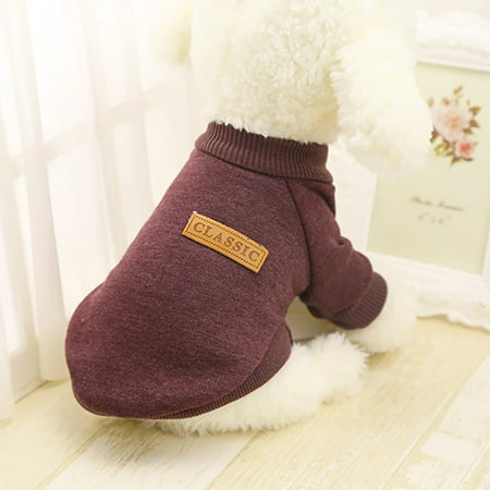 Pet Dog Puppy Classic Sweater Fleece Sweater Clothes Warm Sweater Winter