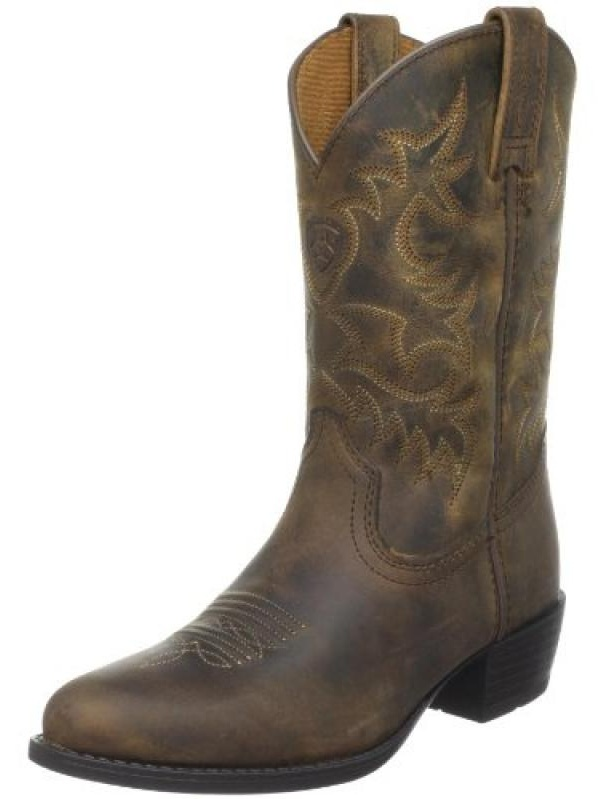 Ariat Heritage Western Youth Round Toe Leather Brown Western Boot by Ariat