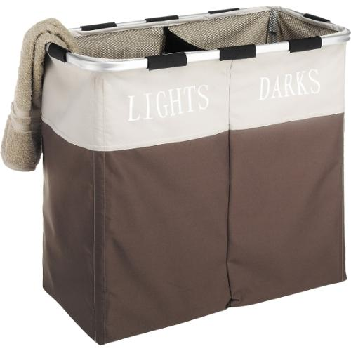 Whitmor 2-Compartment Laundry Sorter - Java Brown