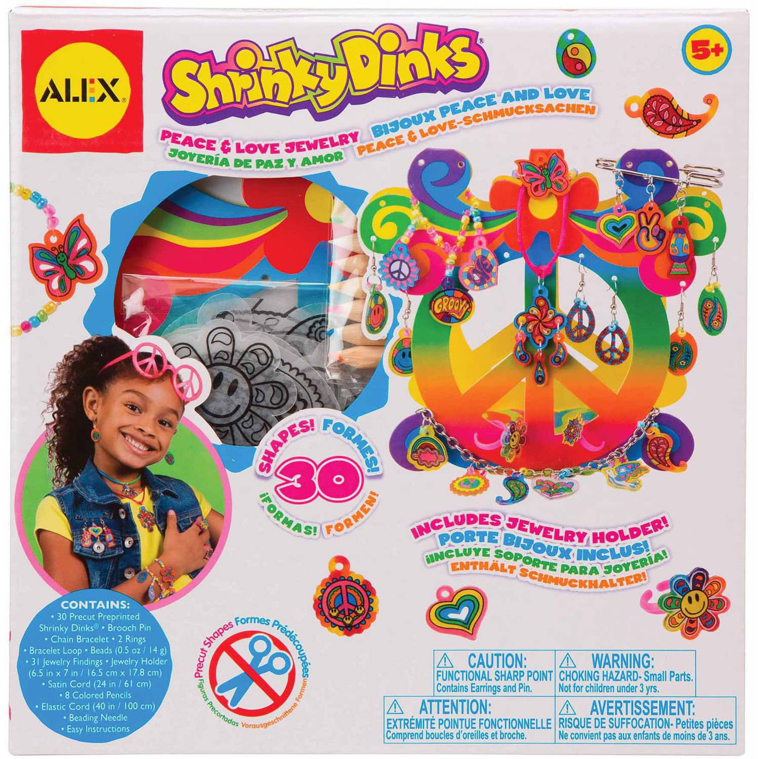 Shrinky Dinks Peace and Love
