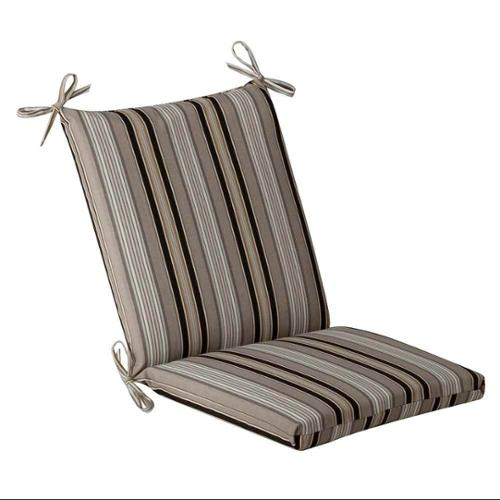 Pillow Perfect Outdoor/ Indoor Essence Black|Beige Squared Corners Chair Cushion