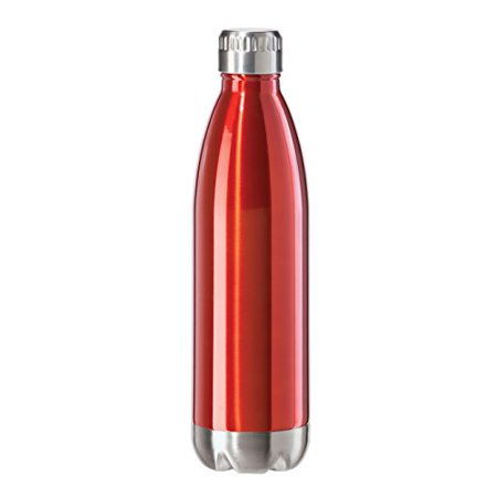 Double Wall Rod (Oggi 8086.2 Stainless Steel Calypso Double Wall Sports Bottle with Screw Top (0.75 Liter, 25oz )-Red Lustre Finish )
