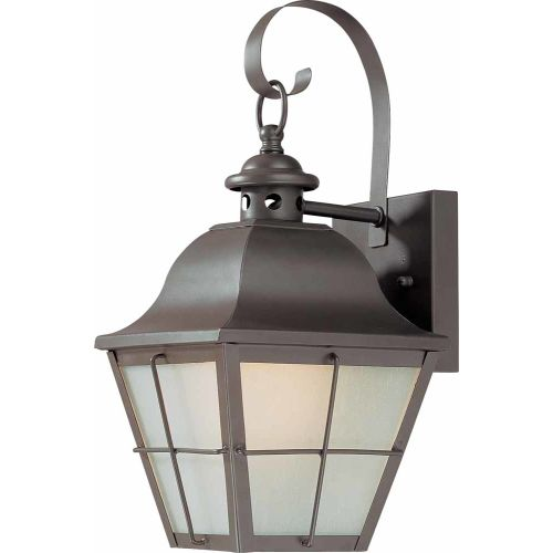 "Volume Lighting V9031 1 Light 14"" Height Outdoor Wall Sconce with Frosted Seedy"