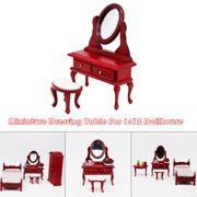 1:12 Dollhouse Furniture Miniature Dressing Table Living Room Kids Pretend Toy