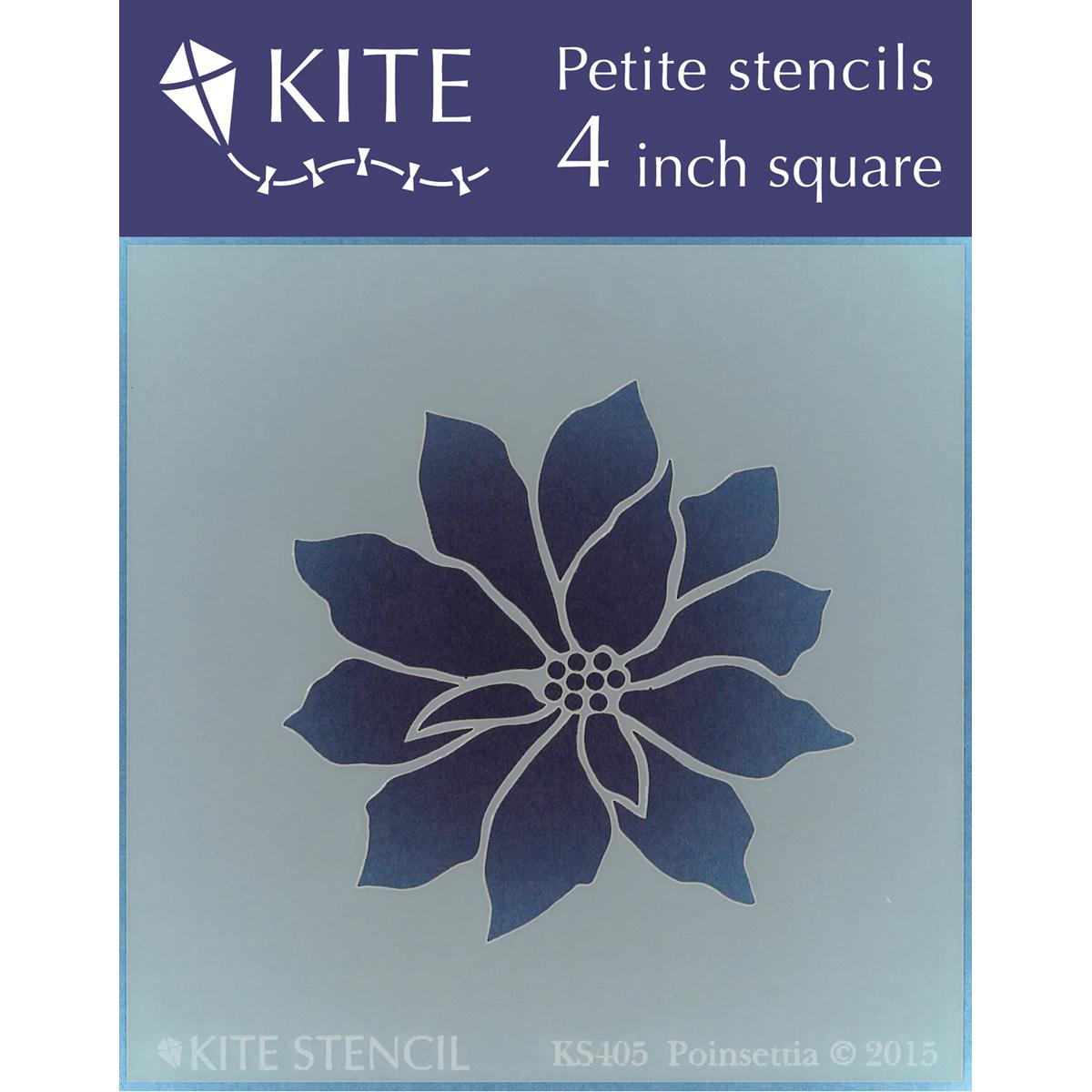 Judikins Kite Petite Stencil 4 Inch Square-Poinsettia