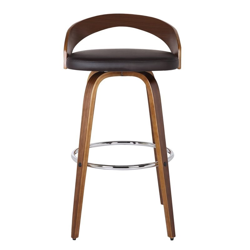 "Maklaine 26"" Faux Leather Counter Stool in Brown - image 5 of 6"