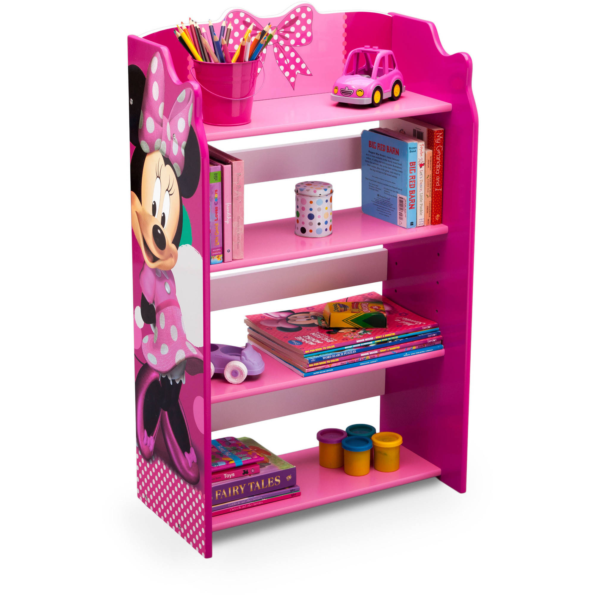 Disney Minnie Mouse Wood Bookshelf By Delta Children Walmart Com