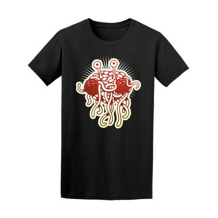 Flying Spaghetti Monster Emblem - Flying Spaghetti Monster Funny Tee Men's -Image by Shutterstock