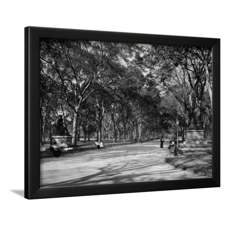 The Mall in Central Park in New York City Photograph - New York, NY Framed Print Wall Art By Lantern (Malls In Atlantic City)