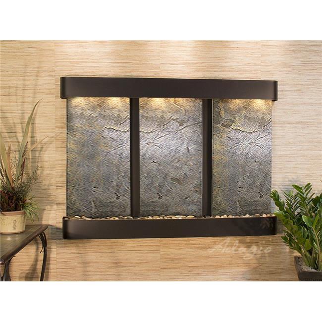 Adagio OFR1512 Olympus Falls Round Wall Fountain - Blackened Copper-Green Featherstone