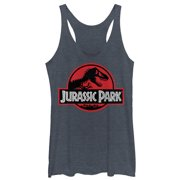 Jurassic Park Women's Red Circle Logo Racerback Tank Top