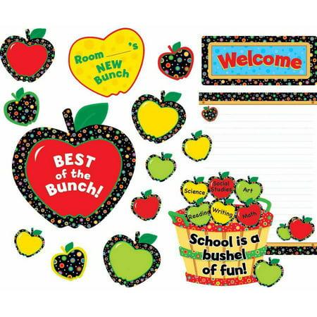 Creative Teaching Press Poppin' Patterns Back-to-School Apples Bulletin Board - Back To School Bulletin Boards