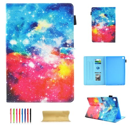 Folio Case for All-New Amazon Fire HD 8 Tablet (8th/7th/6th/5th Generation, 2018/2017/2016/2015 Release), Allytech Smart Book Style Stand Cover Full Body Protective Case Cover, Starry (Best Sky Hd Box Manufacturer)