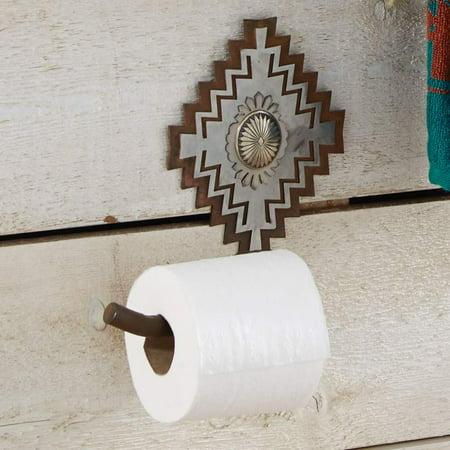Lone Star Western Decor Silver Diamond Toilet Paper Holder