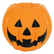 "Pack of 6 Inflatable Jack-O-Lantern Pumpkin Halloween Cooler 22"""