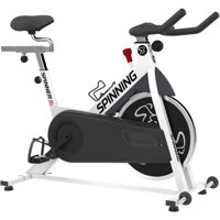 Spinning Spinner S1 Indoor Cycling Bike with Four Spinning DVDs (White)