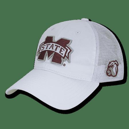 NCAA MSU Mississippi State U Bulldogs Relaxed Trucker Mesh Caps Hats - Msu Bulldogs