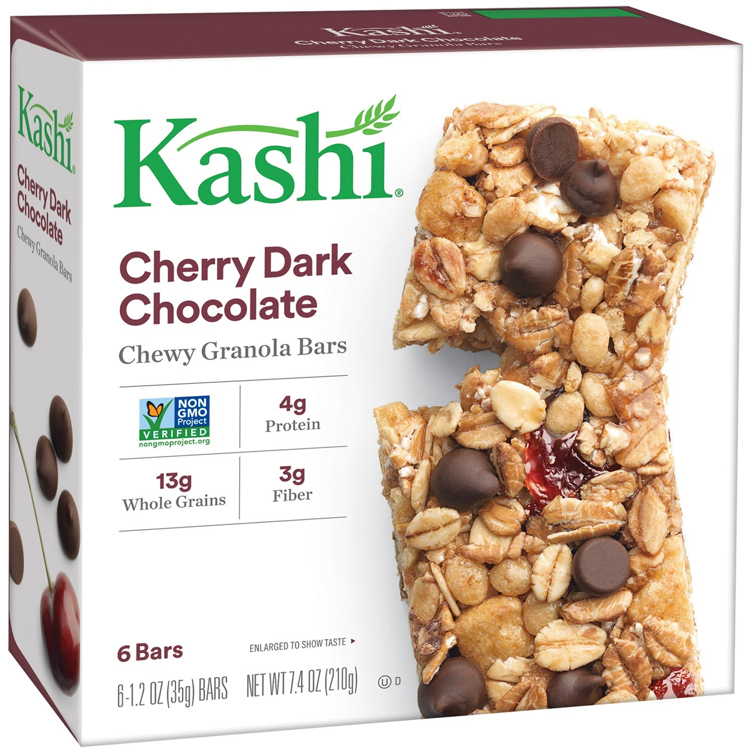 Kashi Cherry Dark Chocolate Chewy Granola Bars, 1.2 oz, 6 count