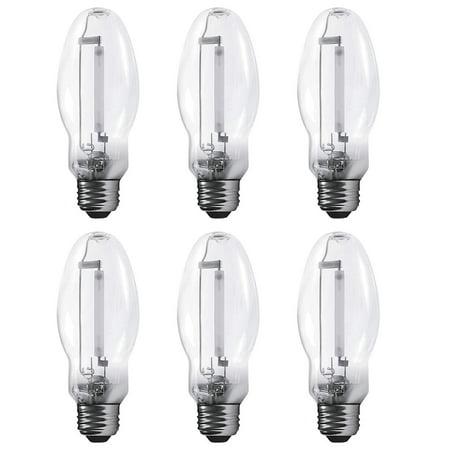 Luxrite LR20685 (6-Pack) LU50/ED17 50-Watt HID High Pressure Sodium Light Bulb, Warm White 2100K, 4000 Lumens, E26 medium base
