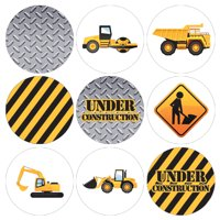 Construction Party Favor Stickers 180ct | Kids Birthday Candy Labels