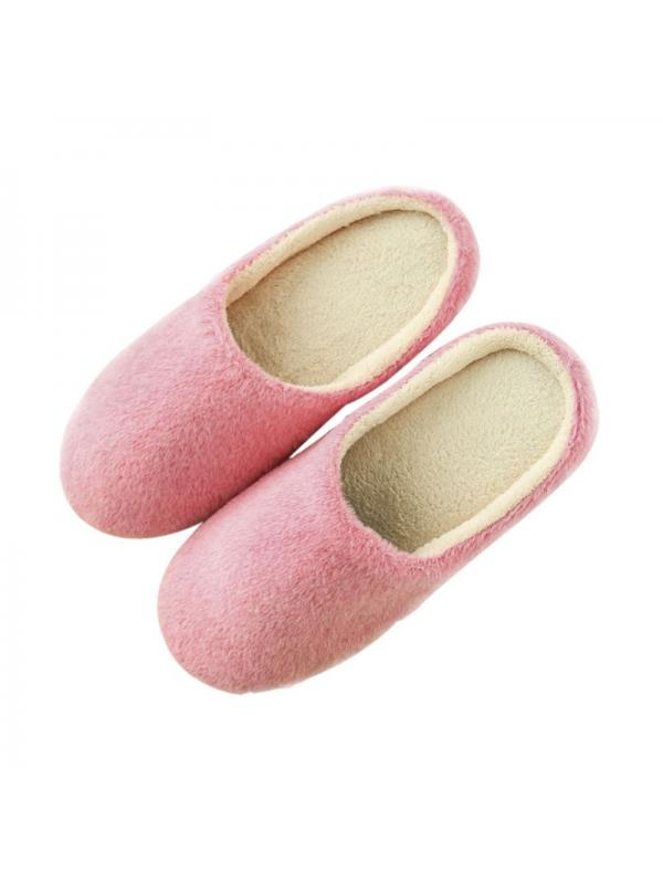 Women Slippers Interior House Plush Soft Cute Cotton Slippers Shoes Non-Slip Floor Furry Slippers Women Shoes for Bedroom