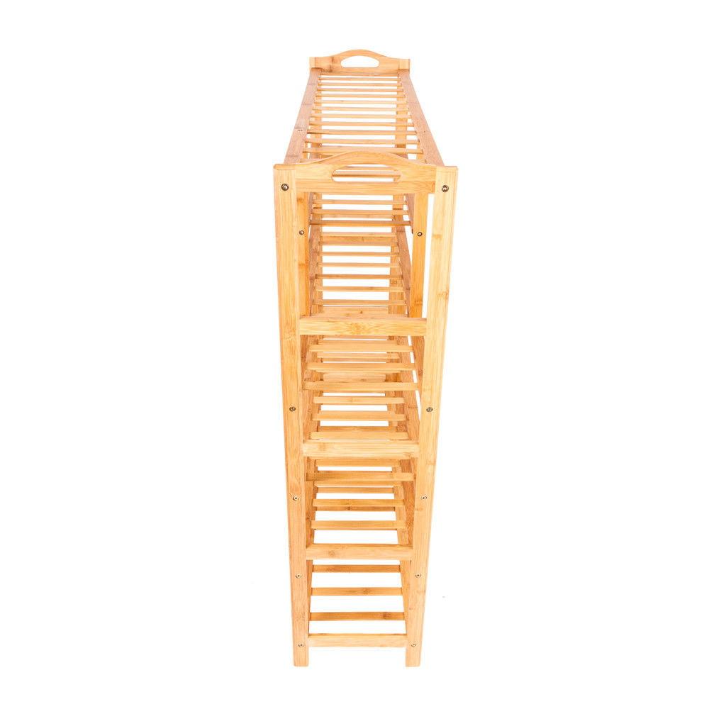Ktaxon 6 Tier Bamboo Shoe Rack Entryway Shoe Shelf Holder Storage Organizer - image 4 de 4