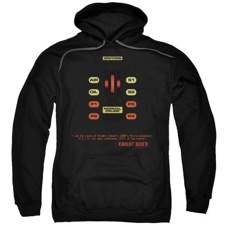 Knight Rider Sci-Fi Action TV Hasselhoff Kitt Consol Adult Pull-Over Hoodie