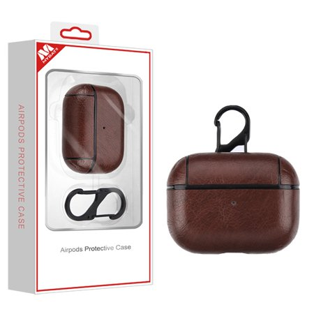 Airpods Pro Dark Brown Leather Case Lychee Series With Package For Apple Airpods Pro With Wireless Charging Case This Package Contains One Airpods Pro Dark Brown Leather Case Lychee Series With Package For Apple Airpods Pro With Wireless Charging Case