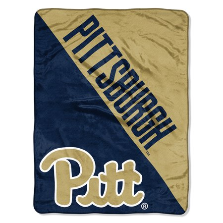 "Northwest Pittsburgh Panthers NCAA Micro Raschel Blanket (Two Tone Series) (48""x60"")"