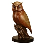 San Pacific International 8.5H in. Nightflyer Owl Statue