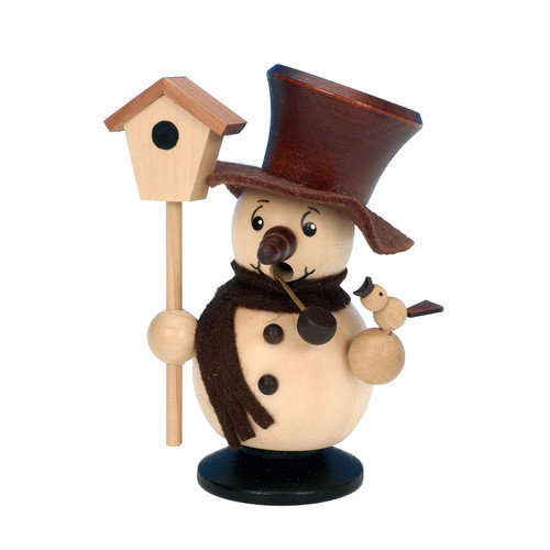 Christian Ulbricht Snowman with Birdhouse Incense Burner