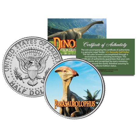 Parasaurolophus  Collectible Dinosaur  Jfk Kennedy Half Dollar Us Colorized Coin