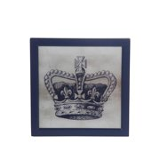 Privilege 88721 18 x 1.5 x 18 in. Crown Wall Decor - IV, Gray