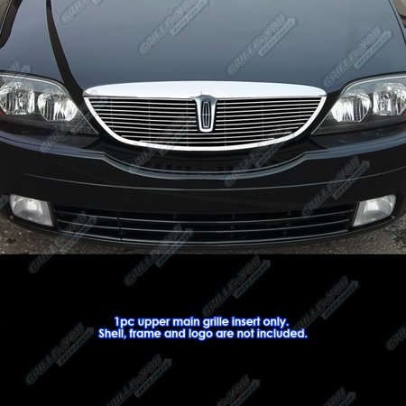 Compatible with 2000-2002 Lincoln LS W Lower Billet Molding Billet Grille Grill Insert L85776A