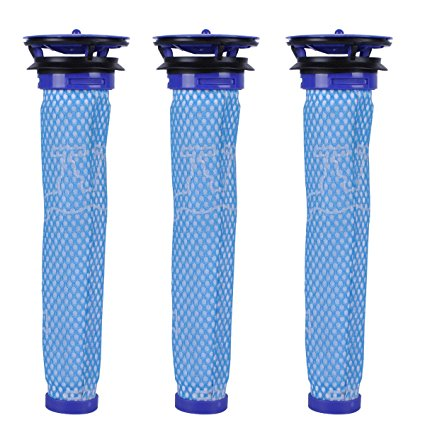 KEEPOW Washable Pre Filters Replacement for Dyson V6 V7 DC58 DC59 DC61 Vacuums,3-Pack