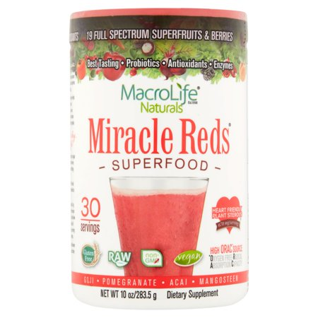 Macrolife Naturals Reds Superfood Powder  10 0 Oz  30 Servings