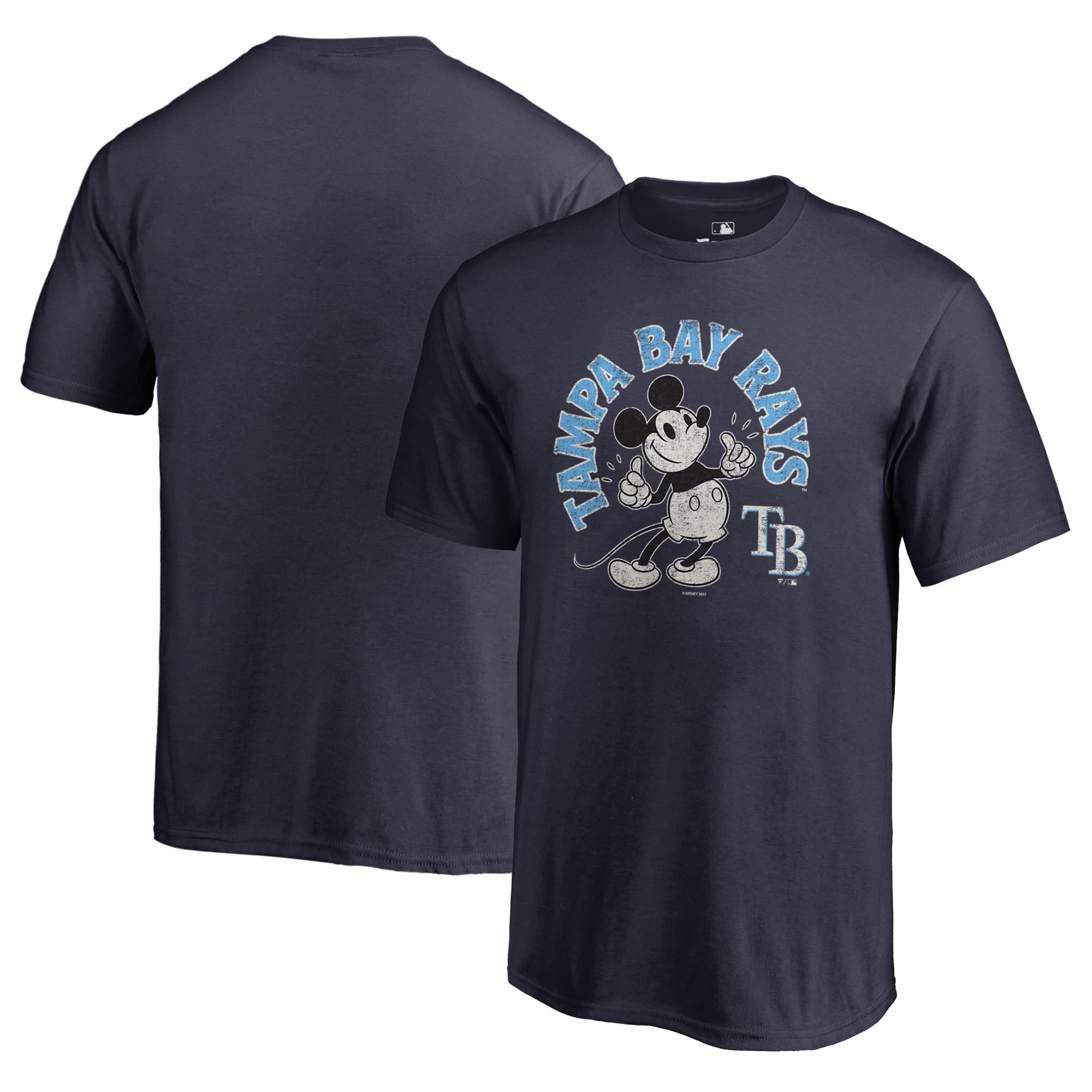 Tampa Bay Rays Fanatics Branded Youth Disney Mickey's True Original Arch T-Shirt - Navy