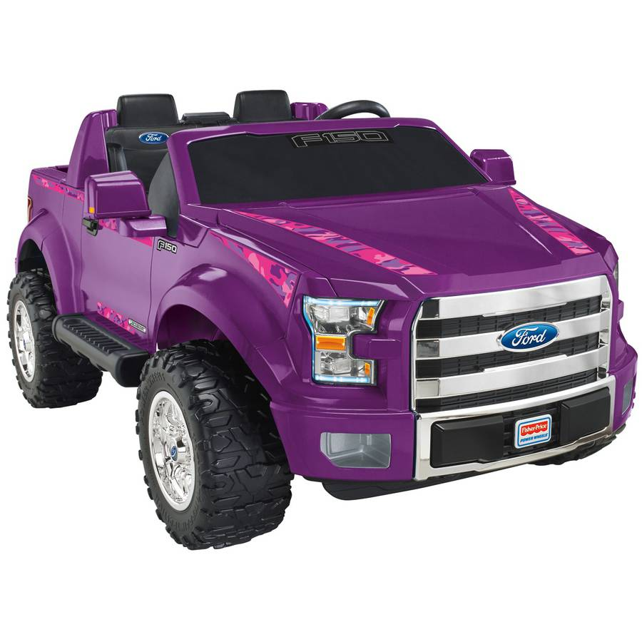 Power Wheels Girls' Ford F-150 12-Volt Battery-Powered Ride-On, Purple Camo - Walmart.com